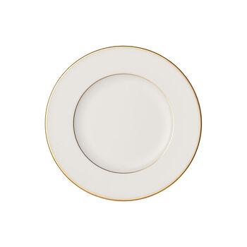 Anmut Gold talerzyk do pieczywa, średnica 16 cm, biały/złoty