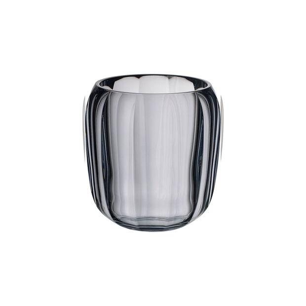 Coloured DeLight szklany świecznik Cosy Grey, , large