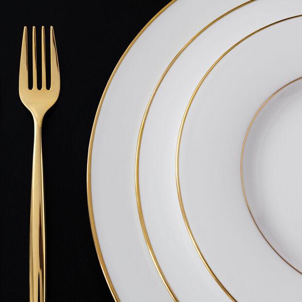 Anmut Gold talerz płytki, średnica 27 cm, biały/złoty, , large