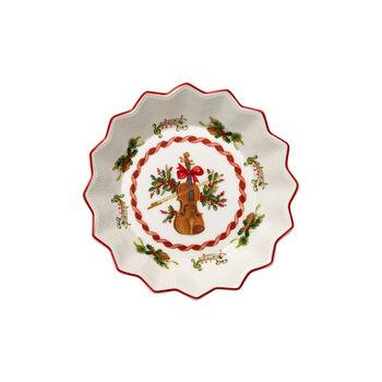 Toy's Fantasy mała miska skrzypce, czerwona/kolorowa, 17 x 17 x 3 cm