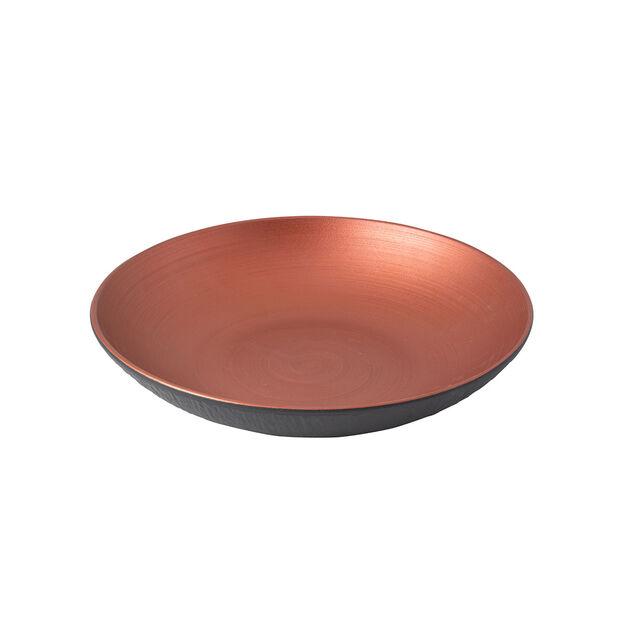 Manufacture Rock Glow płytka miska, miedziany/czarny, , large