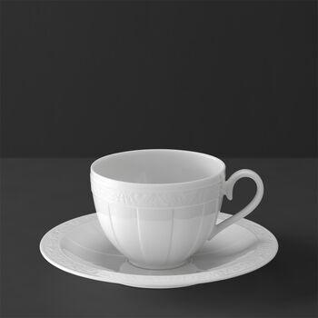 White Pearl Filiżanka do kawy/herbaty ze spod.2 szt.
