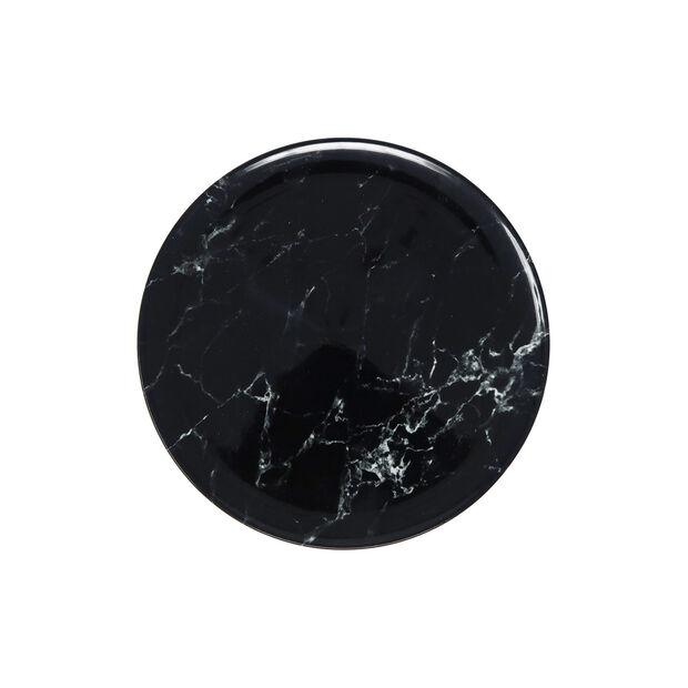 Marmory talerz śniadaniowy Black 21 x 21 x 1,5cm, , large