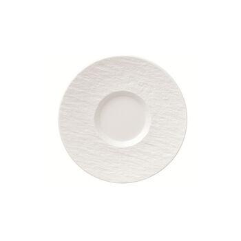 Manufacture Rock Blanc spodek do filiżanki do kawy, biały, 15,5 x 15,5 x 2 cm