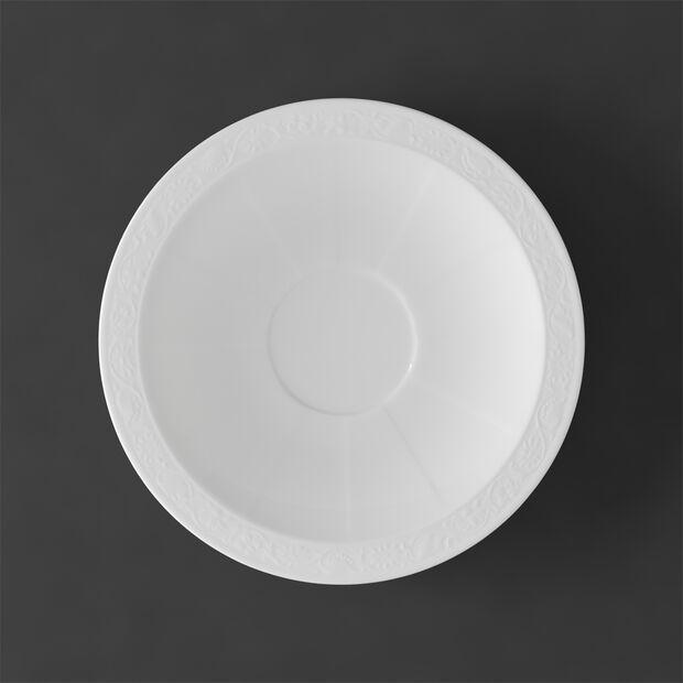 White Pearl spodek do filiżanki do cappuccino, , large
