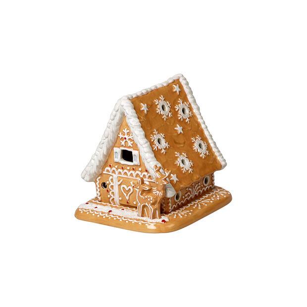 Winter Bakery Decoration domek z piernika, brązowy/biały, 15 x 13 x 14 cm, , large