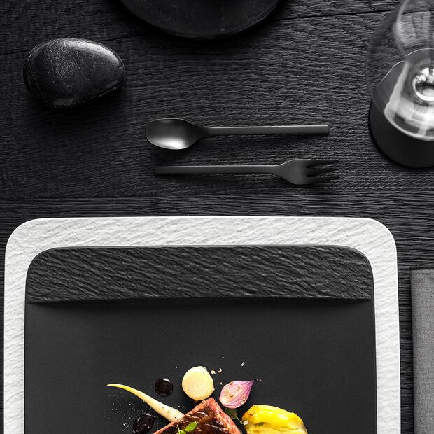 Manufacture Rock kwadratowy półmisek / talerz Gourmet, czarny/szary, 32,5 x 32,5 x 1,5 cm, , large