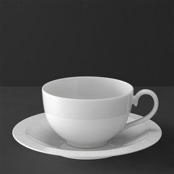White Pearl Filiżanka śniadaniowa ze spodkiem 2 szt.