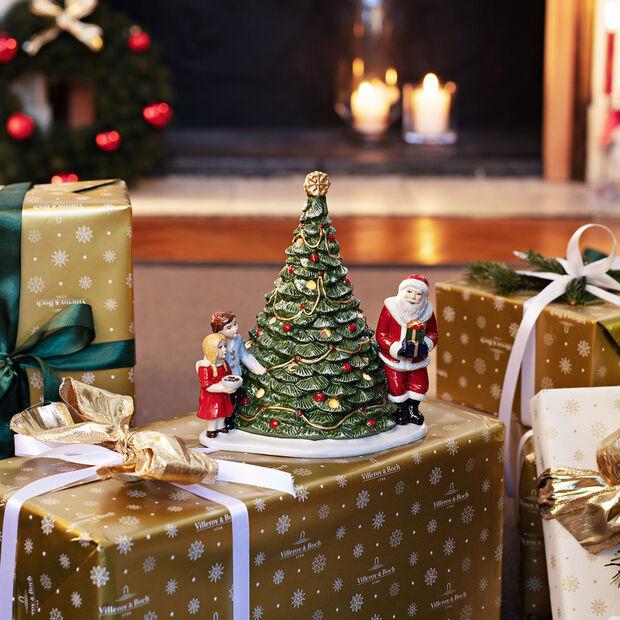 Christmas Toys Św. Mikołaj przy choince 20x17x23cm, , large