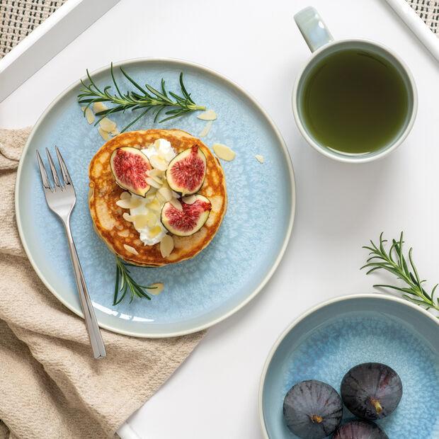 Crafted Blueberry zestaw śniadaniowy, turkusowy, 6-częściowy, , large