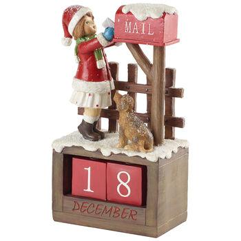 Winter Collage Accessoires Kalendarz z dziewczynką 12,5x8x22,5cm