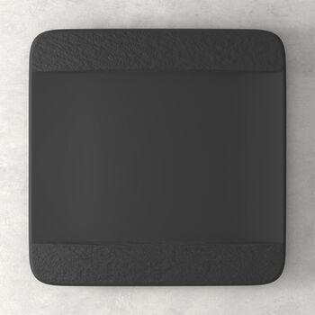 Manufacture Rock kwadratowy talerz płaski, czarny/szary, 28 x 28 x 2 cm