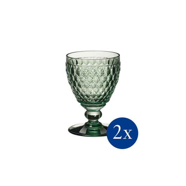 Boston coloured Kieliszek b. wino green Set 2 pcs, , large