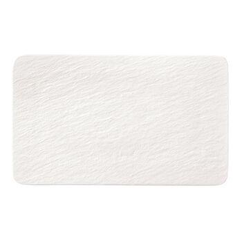 Manufacture Rock Blanc prostokątny talerz wielofunkcyjny, biały, 28 x 17 x 1 cm