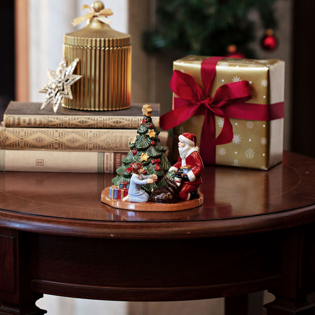 Christmas Toy's świecznik dekoracyjny wręczanie prezentów, kolorowy, 15 x 14 x 14 cm, , large