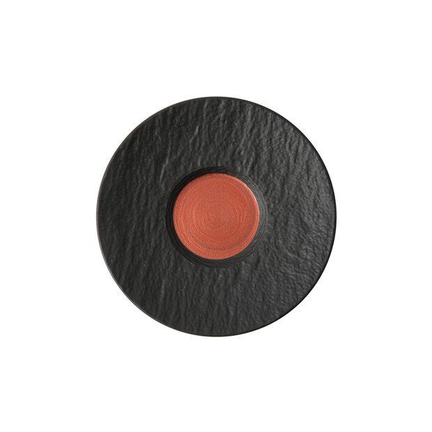 Manufacture Rock Glow spodek do filiżanki do białej kawy, miedziany/czarny, 17 x 17 x 2 cm, , large