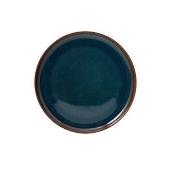 Crafted Denim talerz śniadaniowy, niebieski, 21 cm