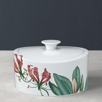 Avarua Gifts pojemnik porcelanowy, 800ml, biały/wielokolorowy