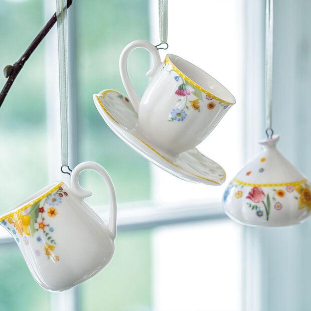 Spring Awakening ozdoby, zestaw do kawy, 3-częściowy żółty/kolorowy, , large