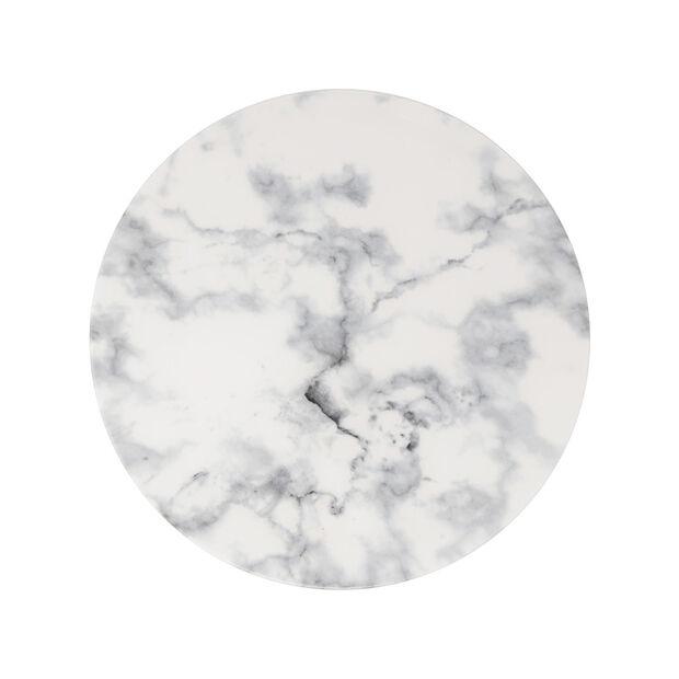 Marmory talerz płaski White, 27x27x1,5cm, , large