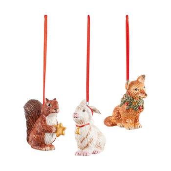 Nostalgic Ornaments zestaw ozdób leśne zwierzęta, 6 x 7 cm, 3-częściowy