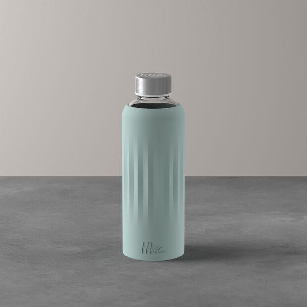 ToGo&ToStay szklana butelka, 0,5l, z silikonową osłonką, miętowa, , large