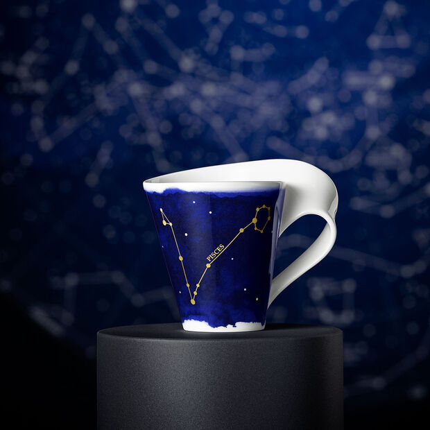 NewWave Stars kubek Ryby, 300 ml, niebieski/biały, , large