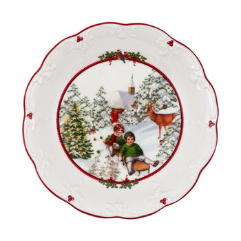 Toy's Fantasy duża miska sanna, kolorowa/czerwona/biała, 24,5 x 24,5 x 4 cm
