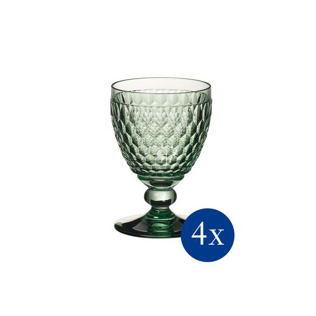 Boston coloured Kieliszek cz.wino green Set 4pc, , large