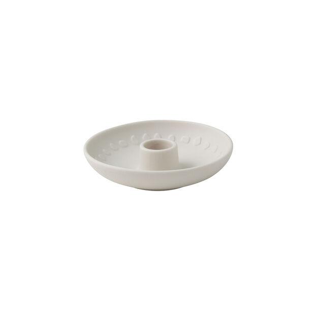 it's my home świecznik Blossom, 12x3 cm, biały, , large