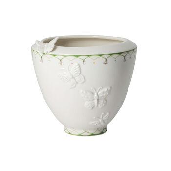 Colourful Spring szeroki wazon, biały/zielony