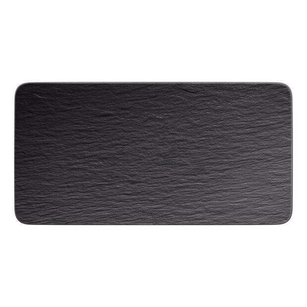 Manufacture Rock prostokątny półmisek, czarny/szary, 35 x 18 x 1 cm, , large