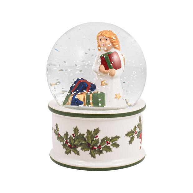 Christmas Toys mała kula śnieżna Aniołek, 6,5 x 6,5 x 9cm, , large