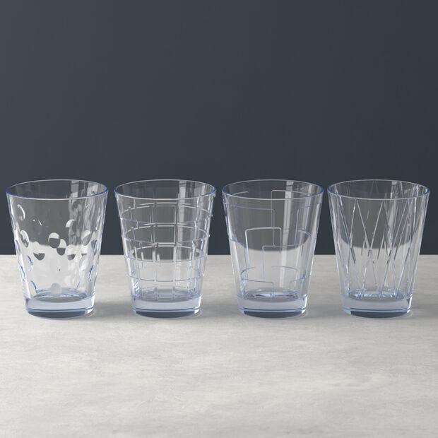 Dressed Up zestaw szklanek do wody Blue 4 el., , large