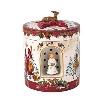 Christmas Toys duży okrągły prezent Aniołek, 17 x 17 x 21,5 cm