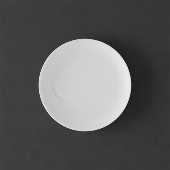 MetroChic blanc Spodek do filiżanki do espresso 14,5x14,5x1,5cm