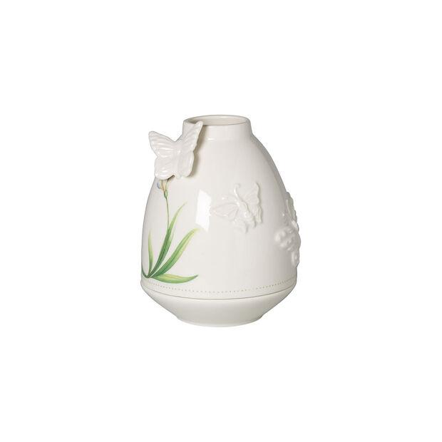 Colourful Spring świecznik dekoracyjny, biały/zielony, , large