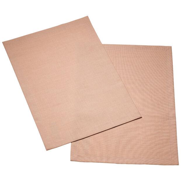 Textil Uni TREND podkładka różana peonia zestaw 2-częściowy 35x50cm, , large