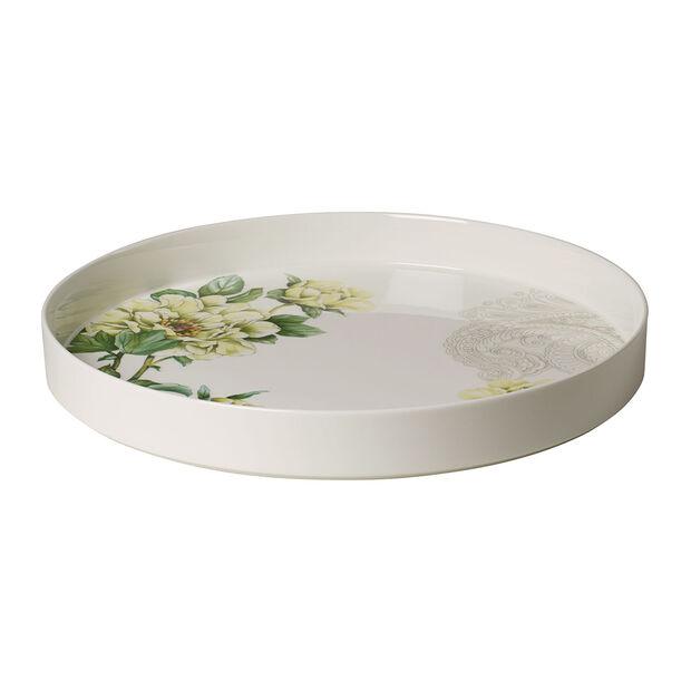 Quinsai Garden miska do serwowania i dekoracji, średnica 33 cm, głębokość 4 cm, biała/kolorowa, , large