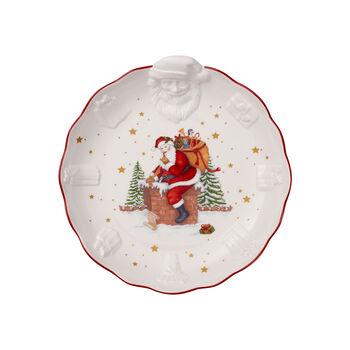 Toy's Fantasy miska z reliefem św. Mikołaj, biała/kolorowa, 24 x 25 x 4,6 cm