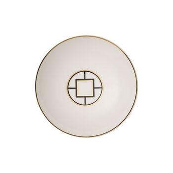 MetroChic talerz głęboki, średnica 20 cm, głębokość 5 cm, biało-czarno-złoty