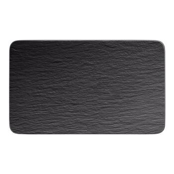 Manufacture Rock prostokątny talerz wielofunkcyjny, czarny/szary, 28 x 17 x 1 cm