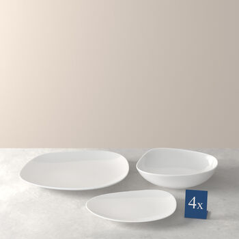 Organic White zestaw talerzy Starter Set, biały, 12-częściowy