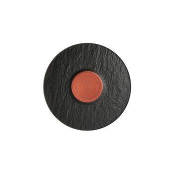 Manufacture Rock Glow spodek do filiżanki do kawy, miedziany/czarny, 15,5 x 15,5 x 2 cm