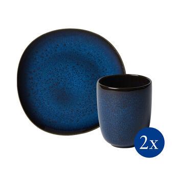 Lave zestaw śniadaniowy, 4-częściowy, dla 2 osób, niebieski