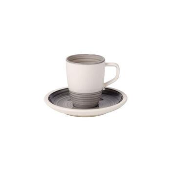 Manufacture gris Filiżanka do espresso ze spod. 2 szt.