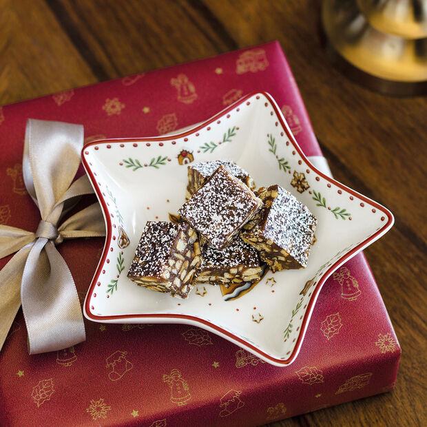 Winter Bakery Delight Miska w kształcie gwiazdy, mała, piernik 13cm, , large