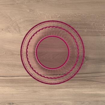 Boston Coloured talerz do sałatki i deseru, różowy, 21 cm