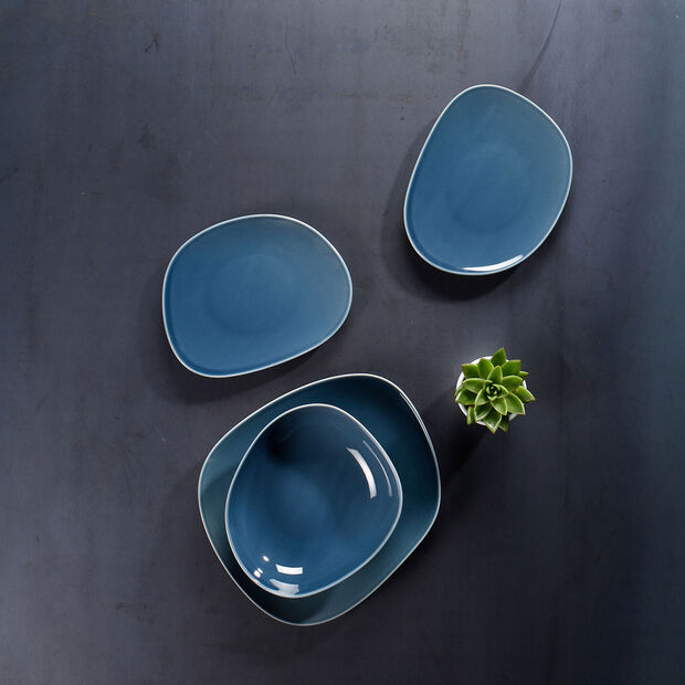 Organic Turquoise talerz płaski 28 x 24 x 3cm, , large