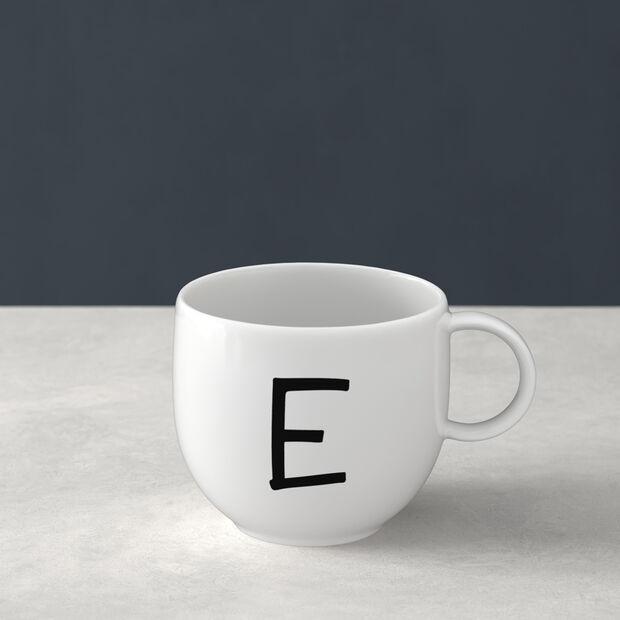 Letters Kubek E 13x10x8cm, , large